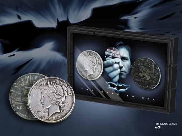 Batman Dark Knight Harvey Dent And Two Face Coins