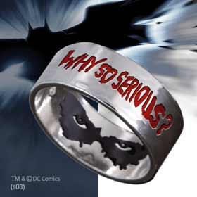 Batman Dark Knight Joker Why So Serious Ring